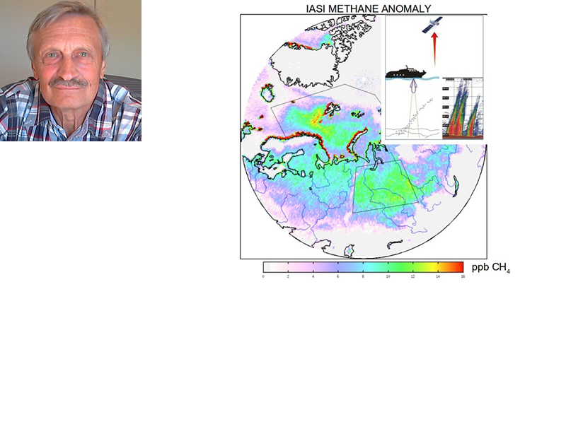 Satellites can see methane emitted from the seabed in the Arctic
