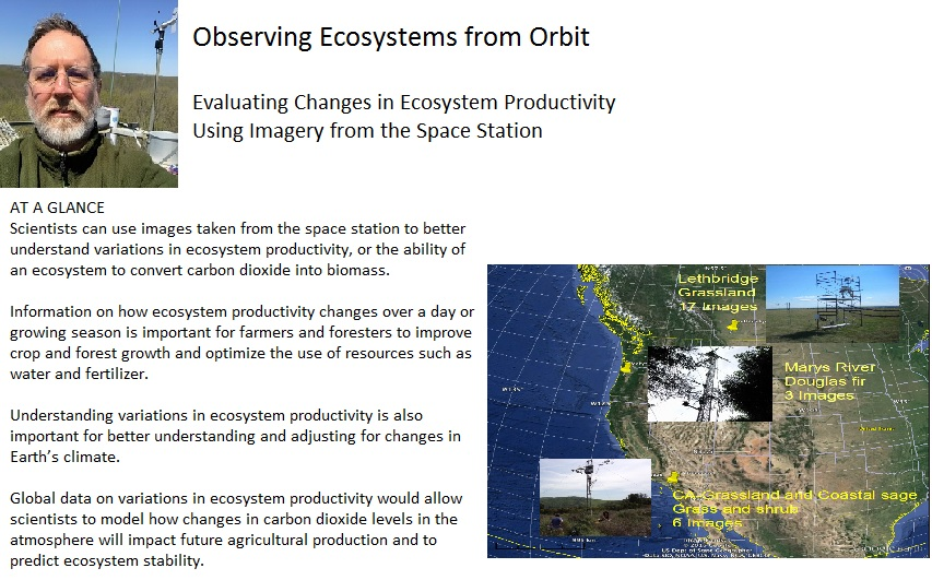 Observing Ecosystems from Orbit