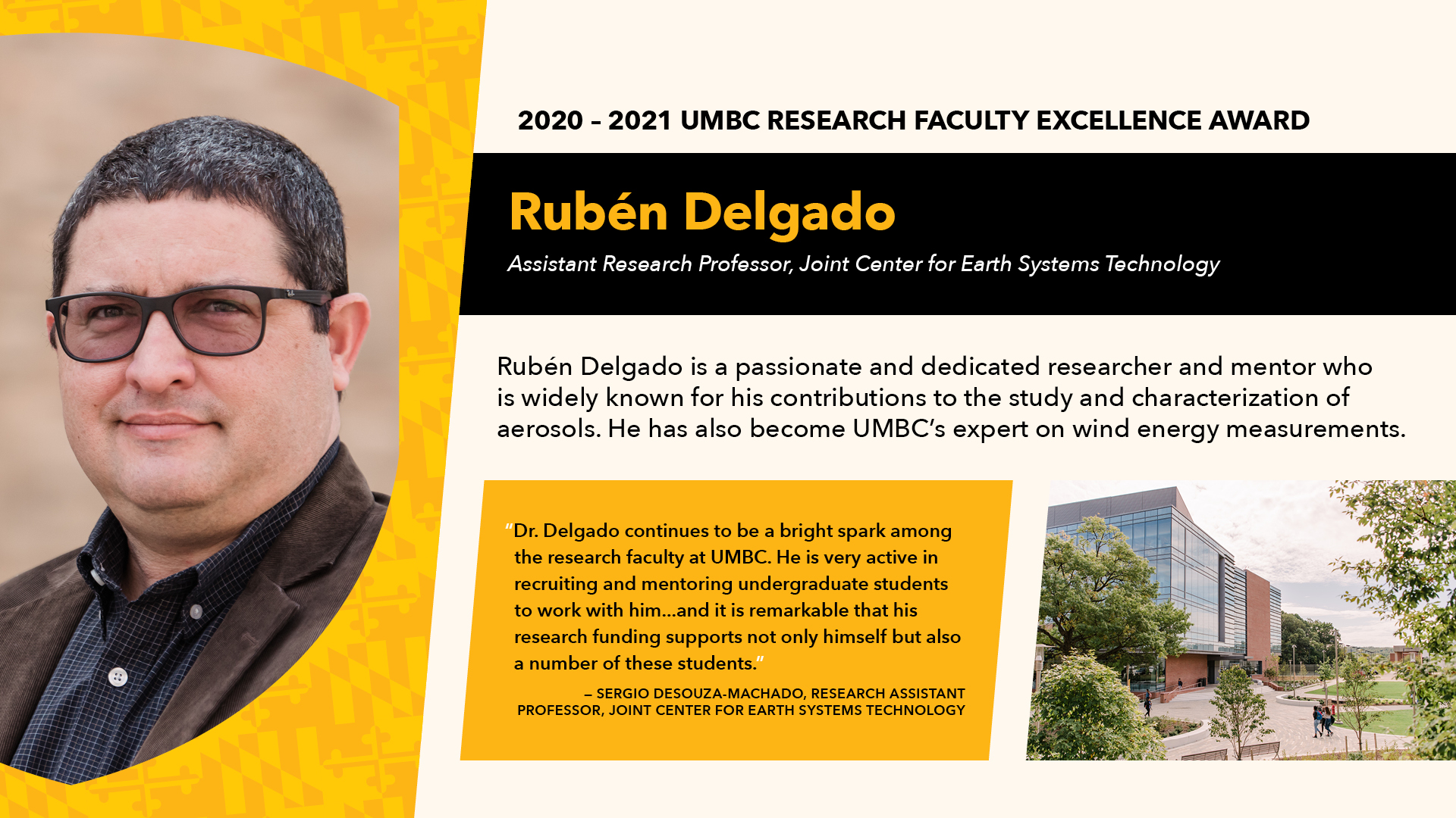 2020-2021 UMBC Research Faculty Excellence Award